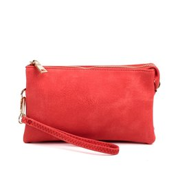 Riley - Vegan Leather Double-Sided Wristlet/Crossbody - Watermelon(WAML)