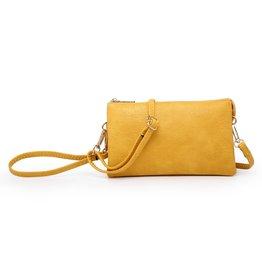 Riley - Vegan Leather Double-Sided Wristlet/Crossbody - Yellow(YL)