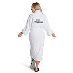 "Los Angeles Trading Co ""Mrs Fabulous"" Plush White One Size Robe"