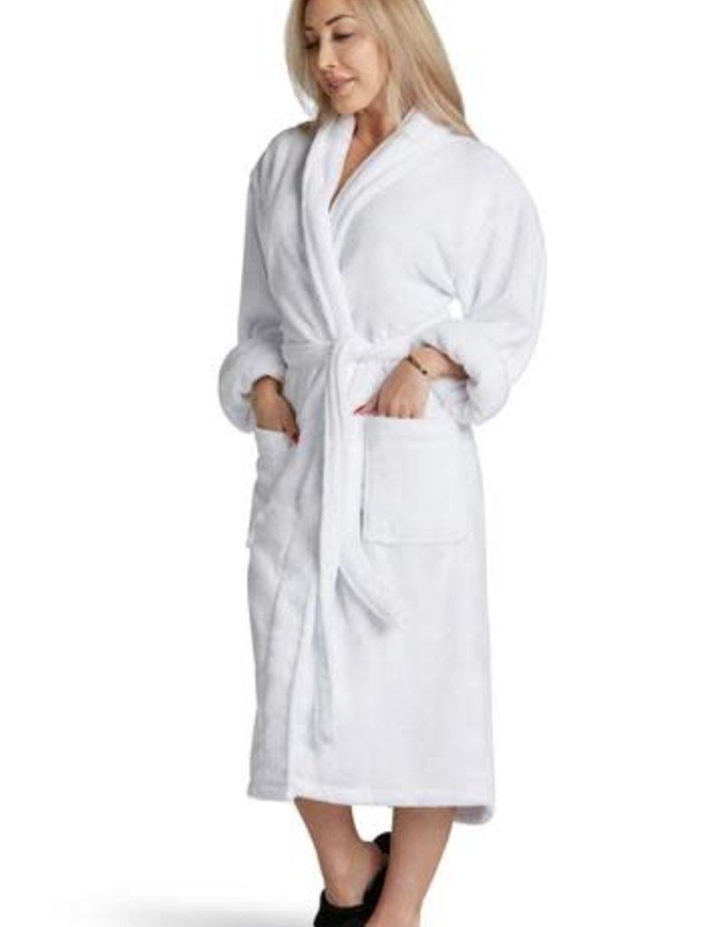 "Los Angeles Trading Co ""Mrs Fabulous"" Plush White One Size Robe"