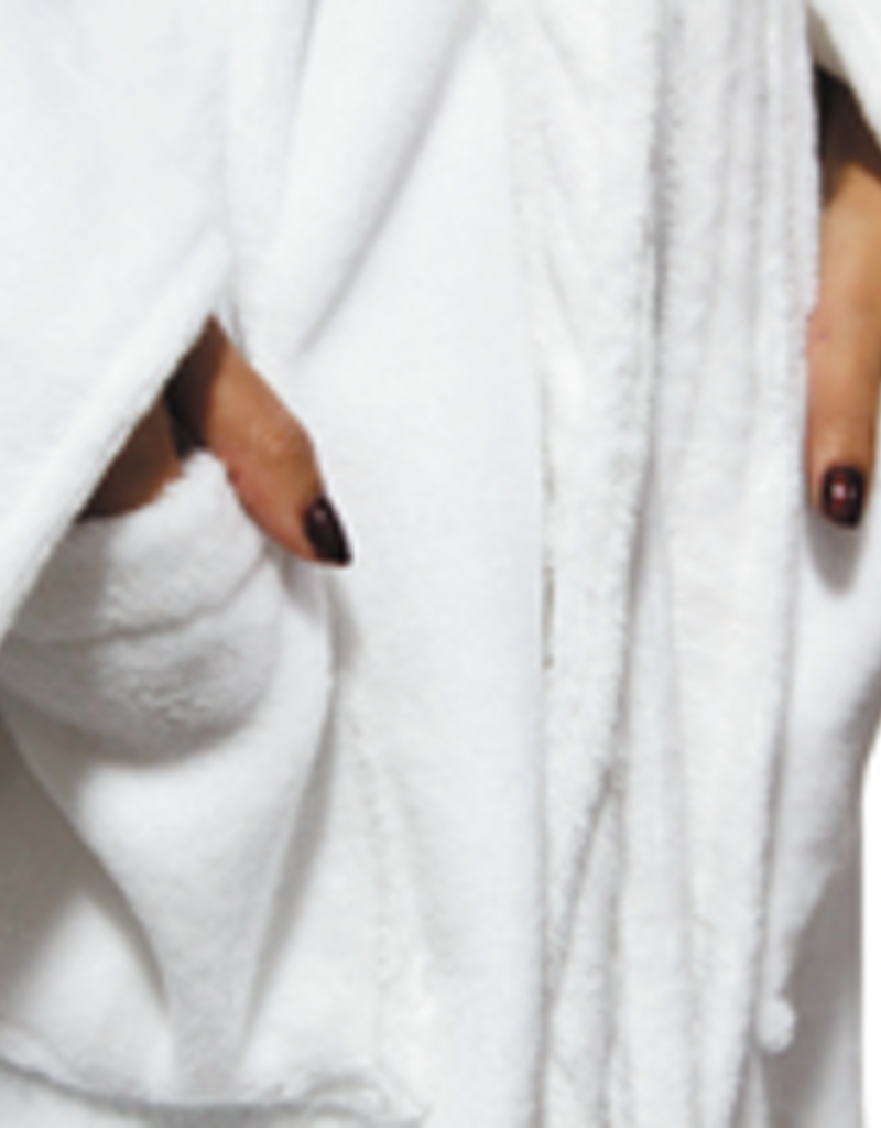 "Los Angeles Trading Co ""Super Mom"" Plush White One Size Robe"