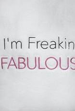 "Los Angeles Trading Co ""I'm Freakin Fabulous"" White One Size Robe"