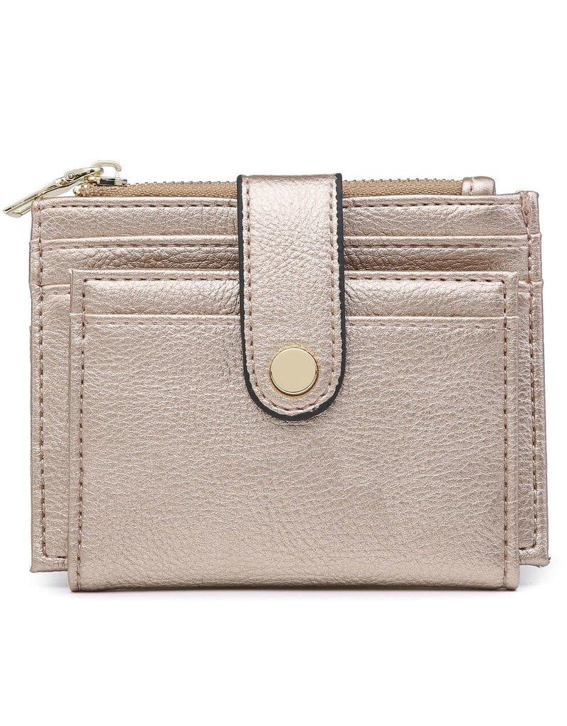 Rose Gold Wallet/Credit Card Holder in Vegan Leather