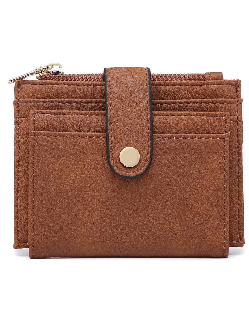 Brown Wallet/Credit Card Holder in Vegan Leather