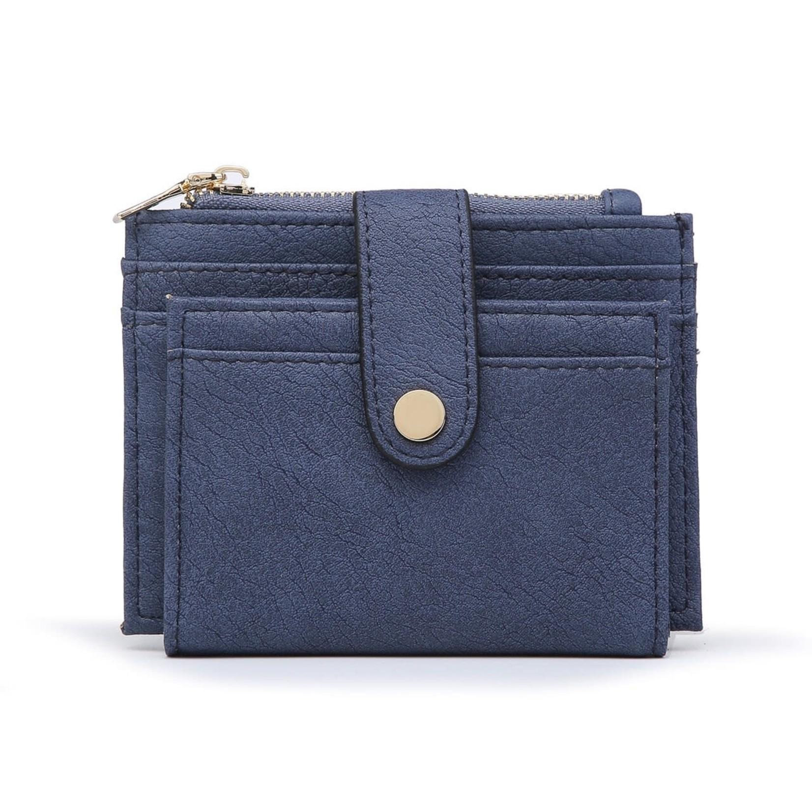 Dark Blue Wallet/Credit Card Holder in Vegan Leather