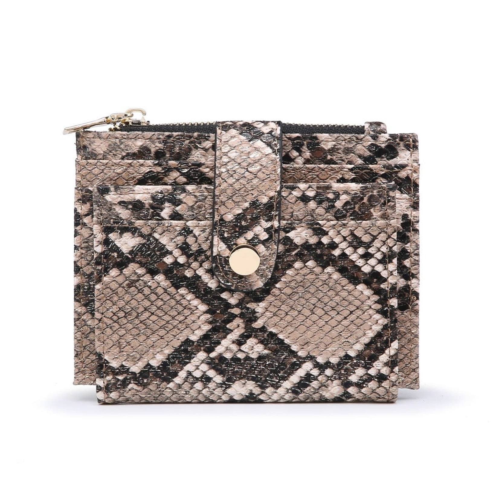 Bronze Python Wallet/Credit Card Holder in Vegan Leather