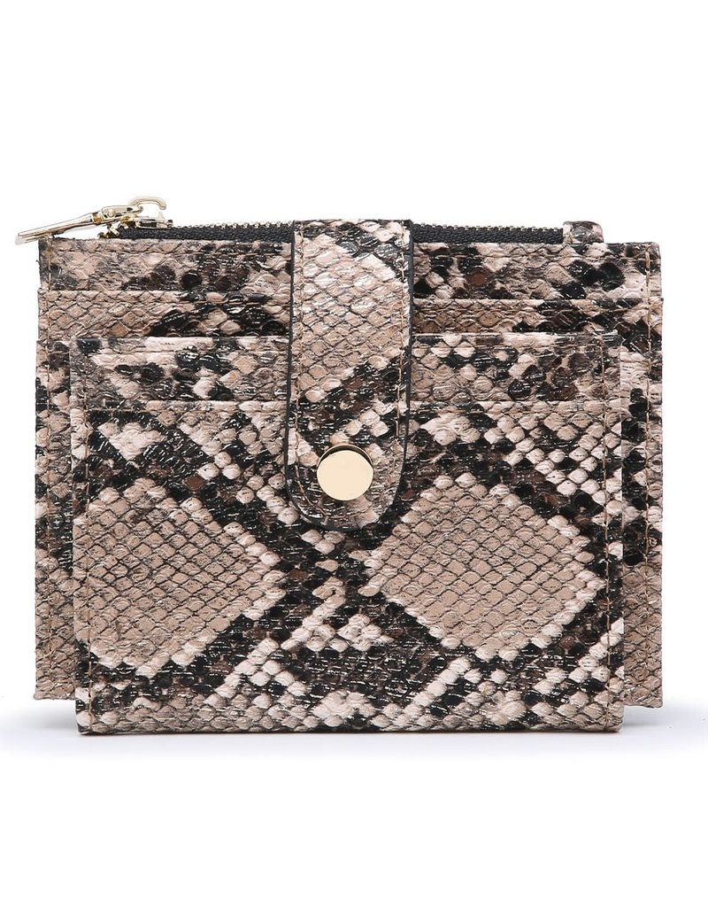 Bronze Python Wallet/Credit Card Holder in Vegan Leather