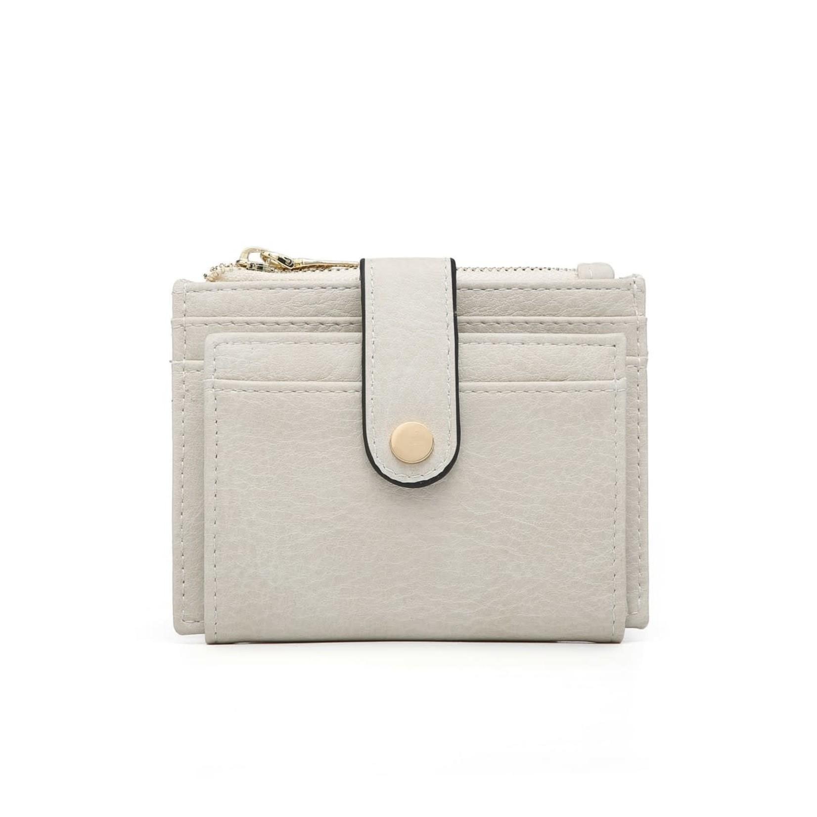 Off White Wallet/Credit Card Holder in Vegan Leather