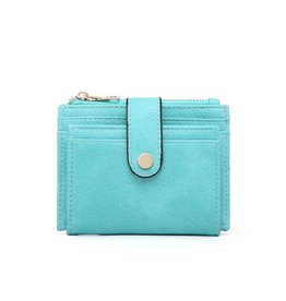 Turquoise Wallet/Credit Card Holder in Vegan Leather