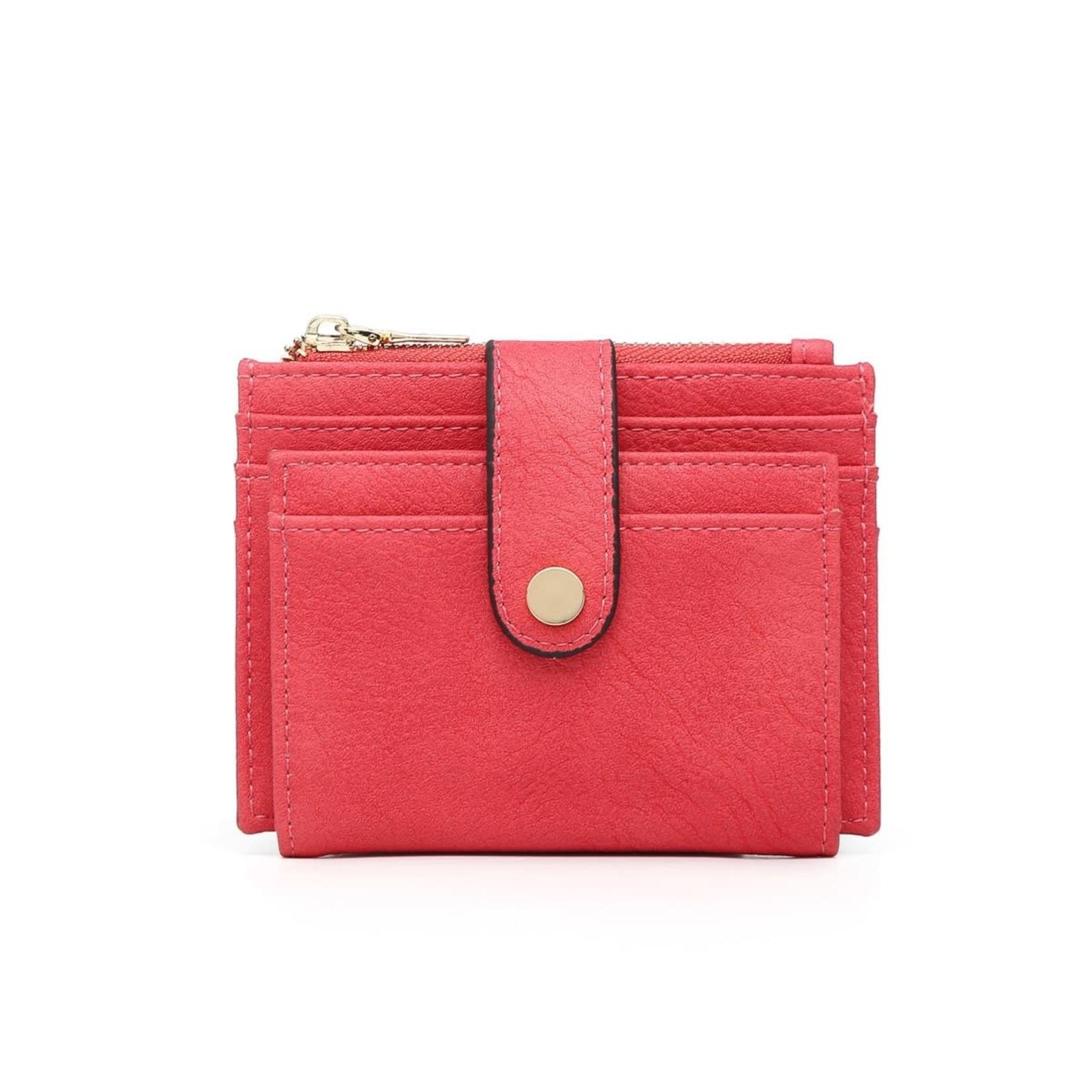 Hot Pink Wallet/Credit Card Holder in Vegan Leather