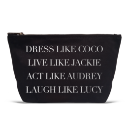 "Los Angeles Trading Co ""Dress Like Coco"" Black Canvas Pouch"