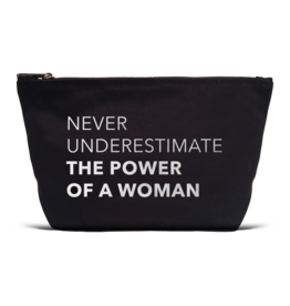 "Los Angeles Trading Co ""Power Of A Woman"" Black Canvas Pouch"