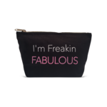"Los Angeles Trading Co ""I'm Freakin Fabulous"" Black Canvas Pouch"