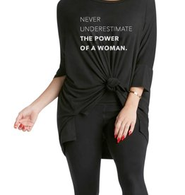"Los Angeles Trading Co ""The Power Of A Woman"" One Size Tee"