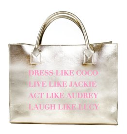 "Los Angeles Trading Co ""Dress Like Coco"" Gold Tote"