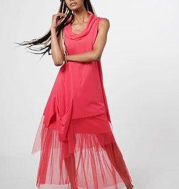 Luukaa Ruby Long Cotton Knitted Tunic-Blouse
