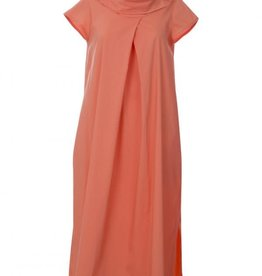Luukaa Carmen Long Cotton Poplin Dress with Cap Sleeves