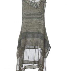 Luukaa Gloria Linen Woven Mid-Length Tunic with Tulle