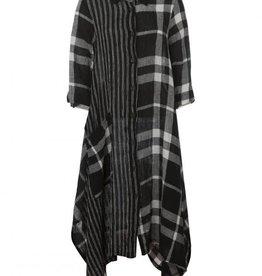 Luukaa Striped Checkered Linen Woven Shirt