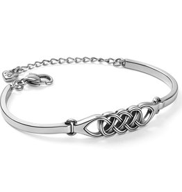 Brighton Interlok Braid Bar Bracelet