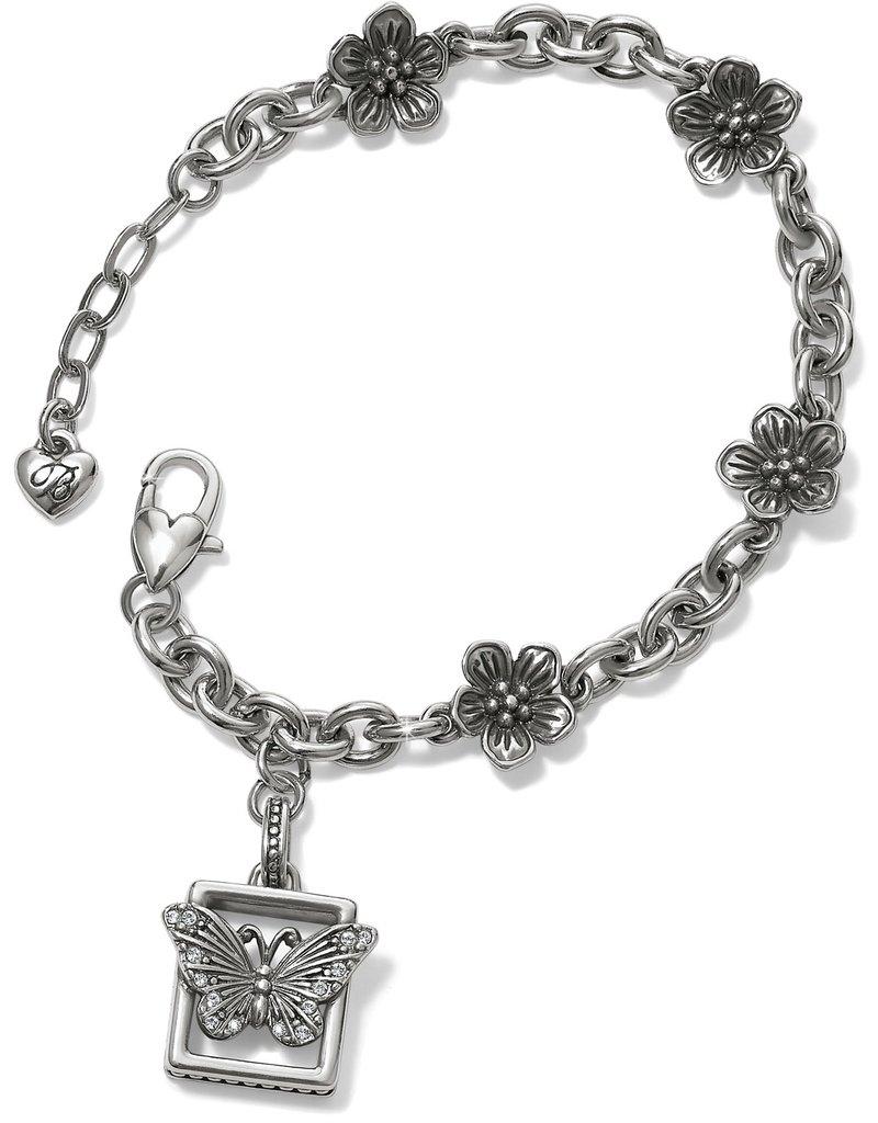 Brighton Solstice Framed Butterfly Bracelet Silver