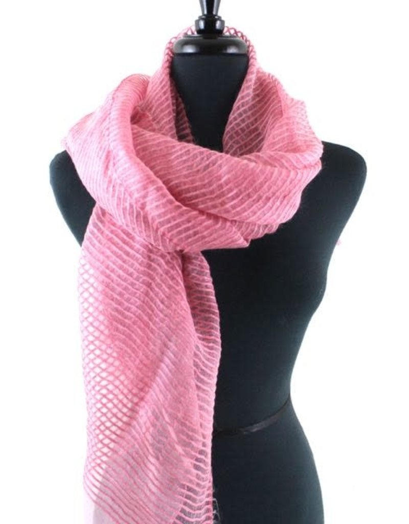 Solstice Plum Solid Sheer Ribbed Scarf