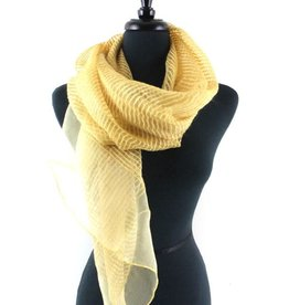 Solstice Mustard Solid Sheer Ribbed Scarf