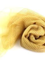 Solstice Mustard Solid Sheer Ribbed Scarf