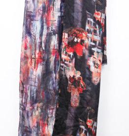 Treska Lightweight Double Sided Brushstroke Print Scarf/Wrap