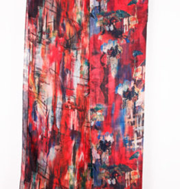 Treska Lightweight Double Sided Abstract Print Scarf/Wrap