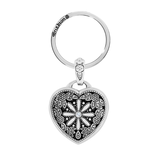 Brighton Floral Heart Key Fob