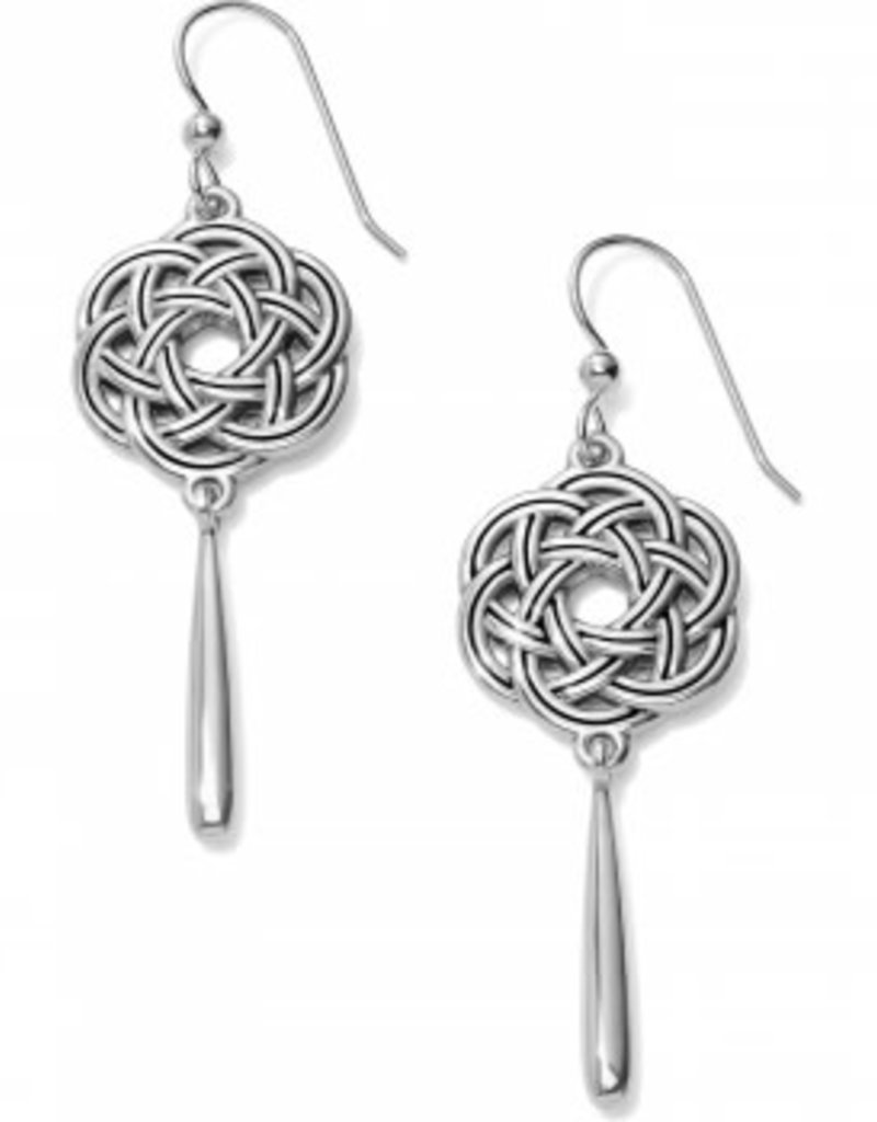 Brighton Interlok Eternity Circle French Wire Earrings