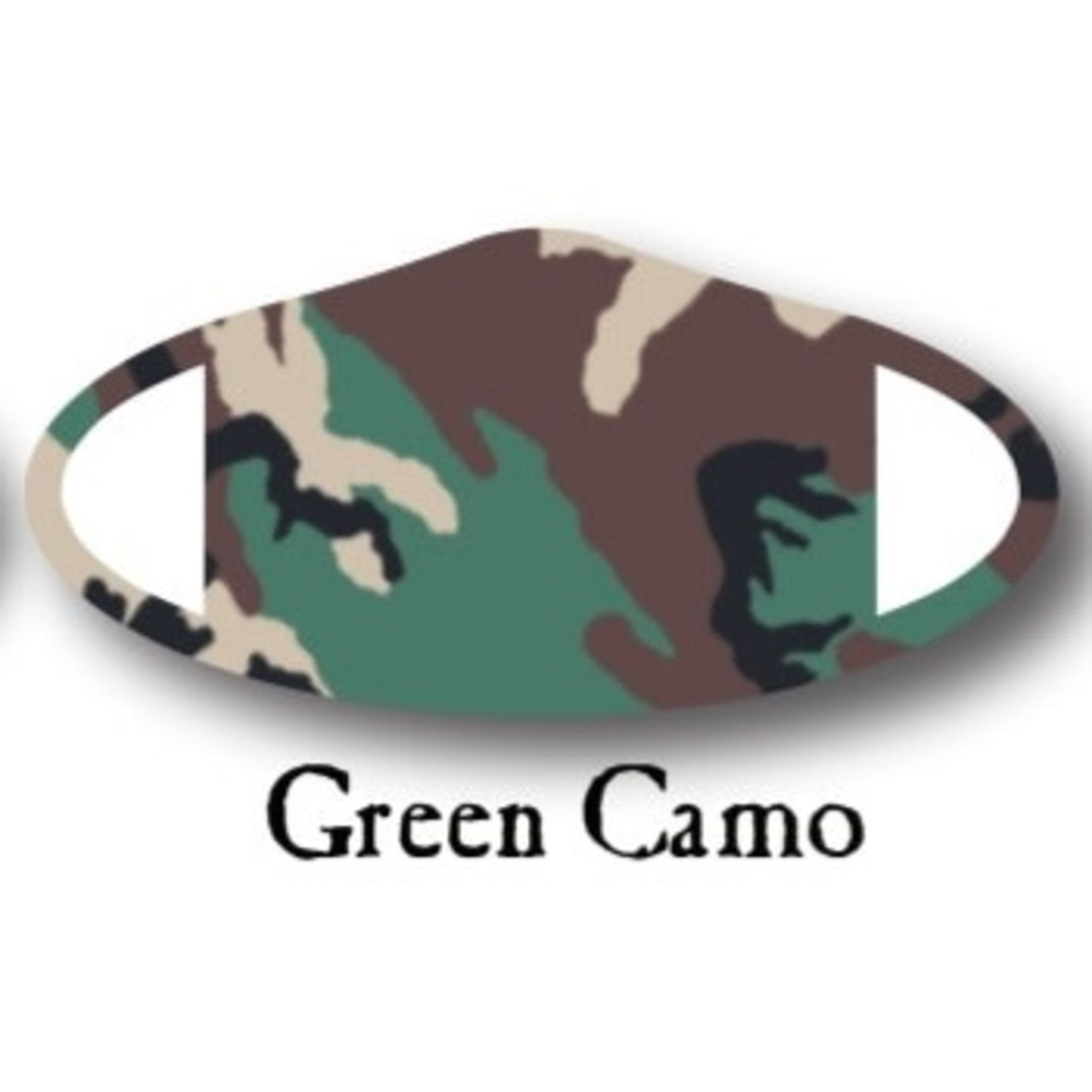 Deco Mask Green Camo Mask