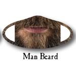 Deco Mask Man Beard Mask