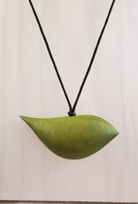 Lime Wood Bird Necklace On Adjustable Cord