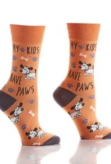 My Kids Have Paws Women's Crew Sock