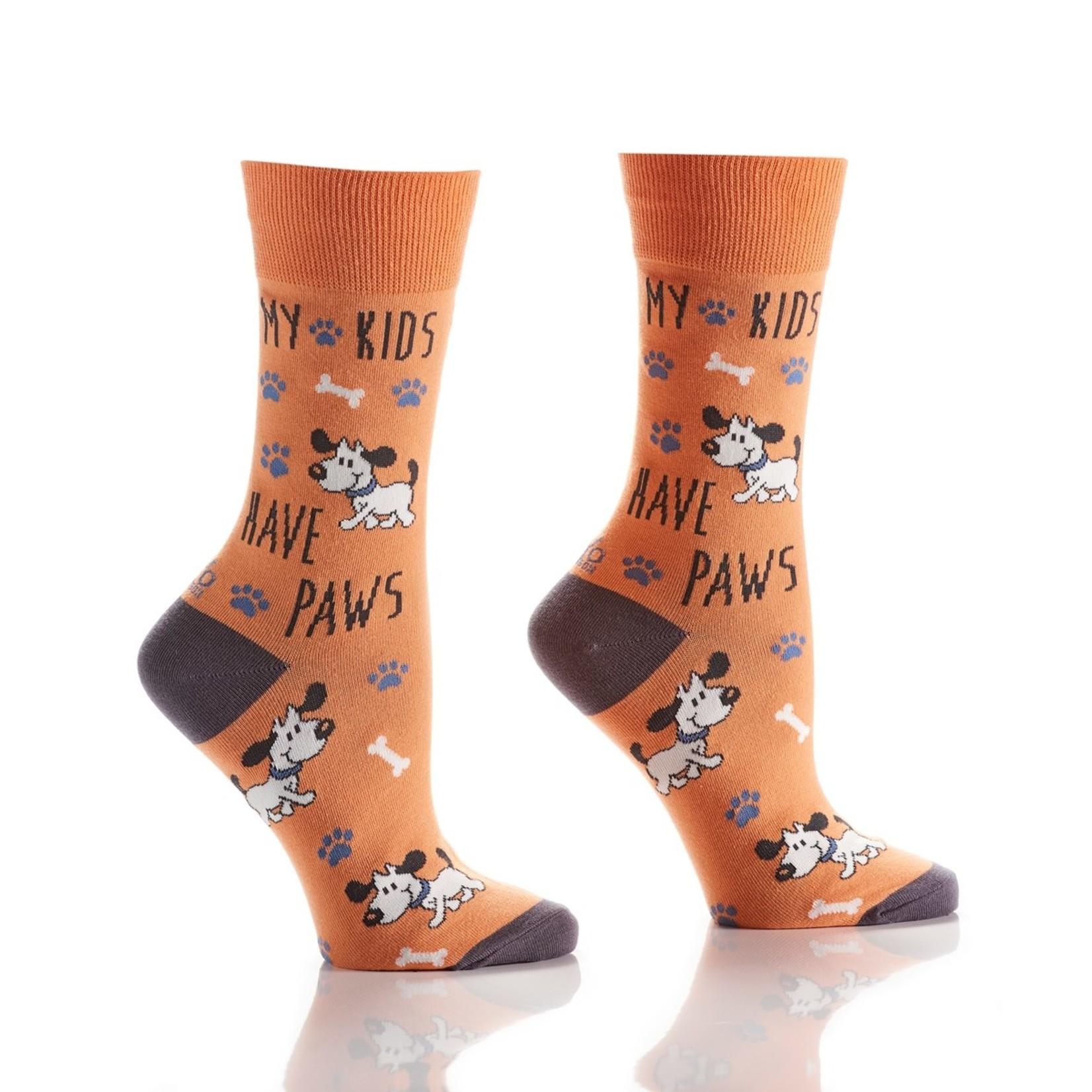 My Kids Have Paws Women's Crew Sock