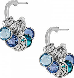Brighton Elora Gems Small Hoop Earrings Silver-Blues