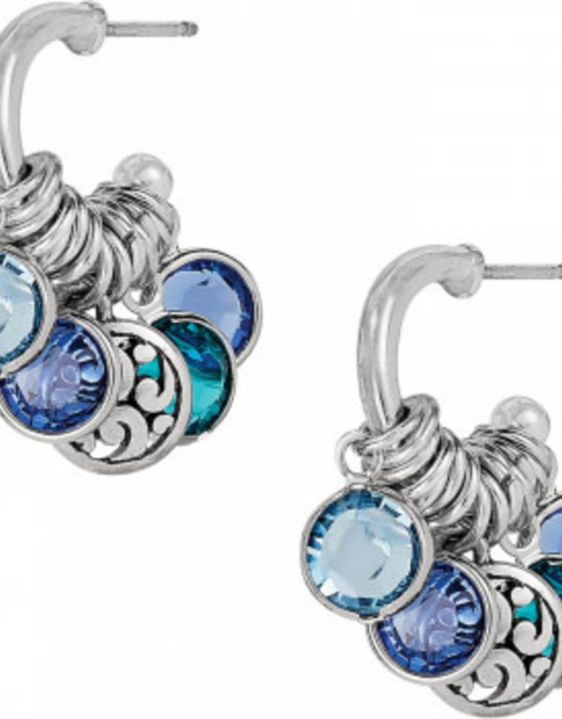 Brighton Elora Gems Small Hoop Earrings Silver-Blues