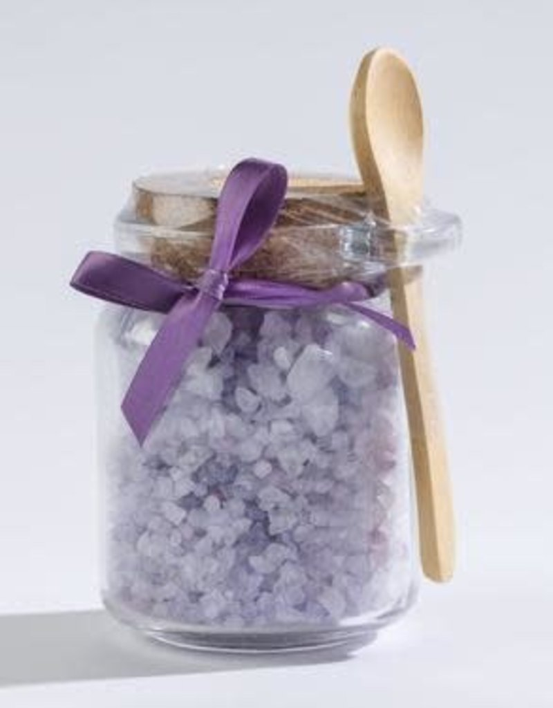 Sonoma Lavender Bath Salts in a Honey Jar w/Wood Scoop