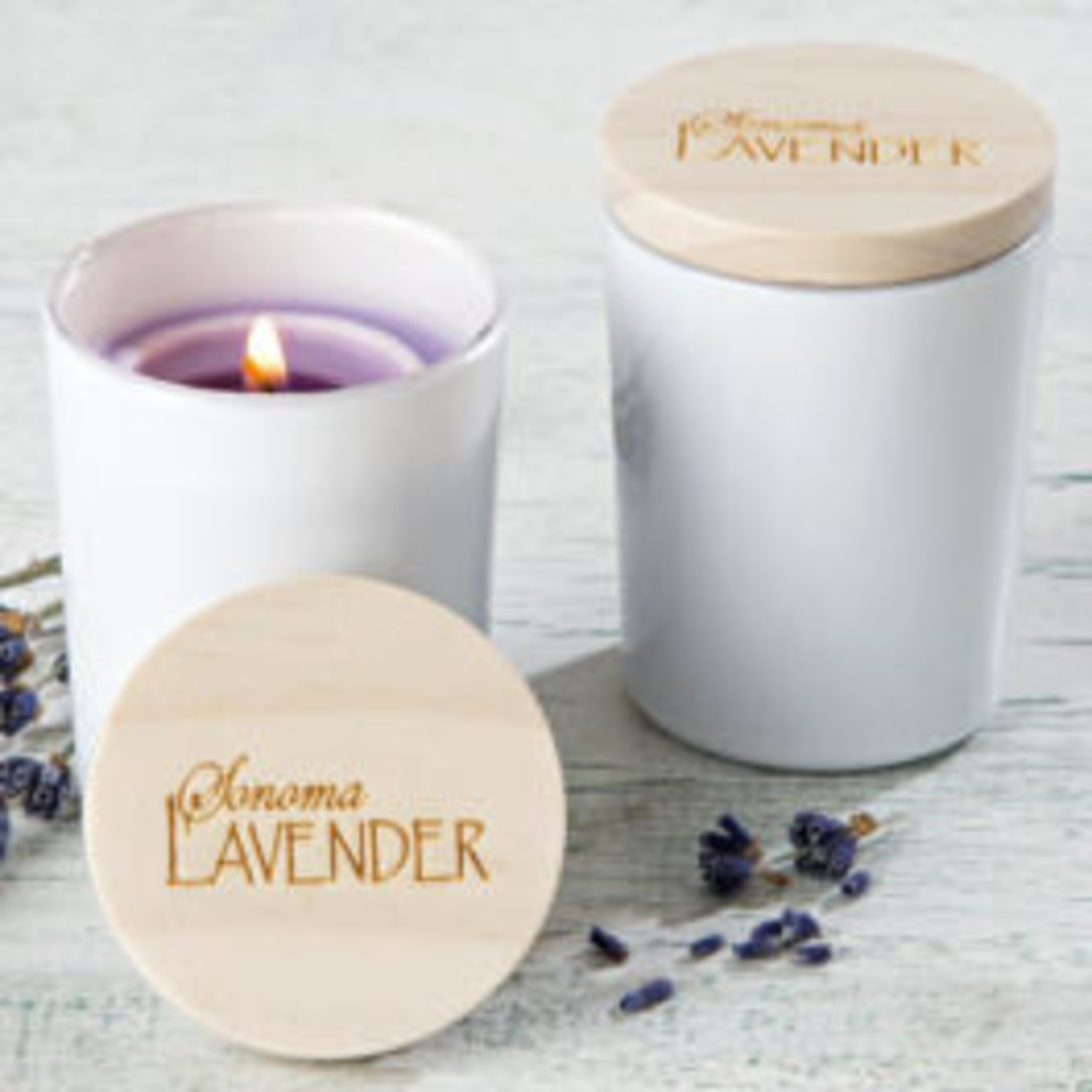 Sonoma Lavender Soy Votive in Ceramic Jar w/Wood Lid