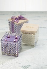 Sonoma Lavender Soy Candle in Lilac Dots Jar w/Wood Lid
