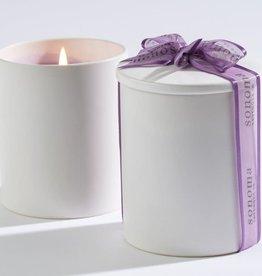 Sonoma Lavender Soy Candle in White Ceramic Jar w/Ceramic Lid