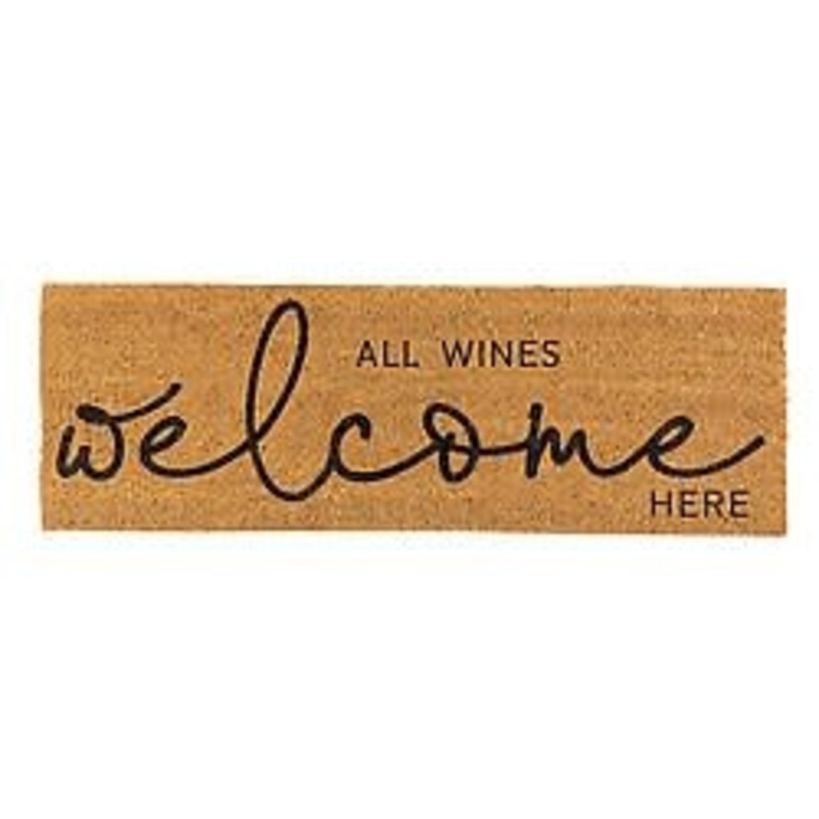 All Wines Welcome Door Mat