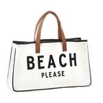 Beach Please Canvas Tote