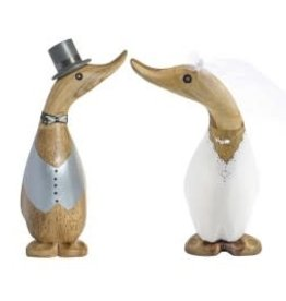 Dcuk Hand Carved Bamboo Bride & Groom Duckling Set