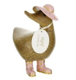 Dcuk Fancy Natural Bamboo Ducky w/Gold & Pink Hat