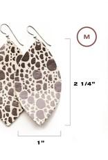Keva Style Large Leather Leopard Earrings