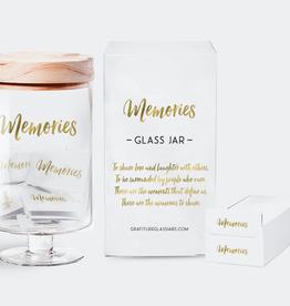 Gratitude Glass Jars Inspirational Memories Glass Jar