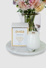 Gratitude Glass Jars Candle/ScentedSoy/WoodenWick/PearShape Gratitude